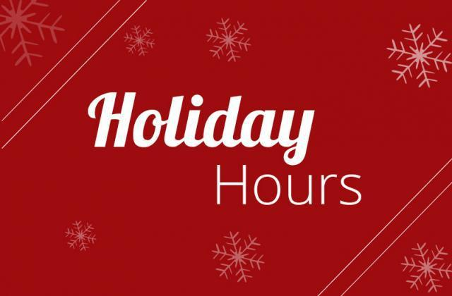 Holiday Support Hours